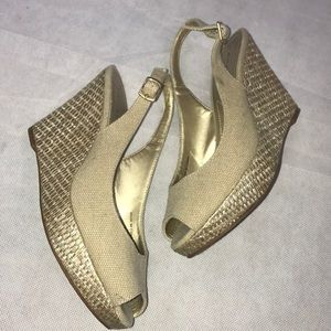 TAHARI Taylor Raffia Wedge Sandal!!!